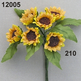 Sunflower small w/leaf